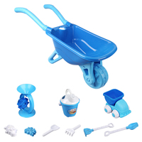 Children Outdoor Wheelbarrow Beach Sand Toy Set With Bucket For Children Kids Beach Sand Toys Water Fun Sports Bathroom 2 Colors