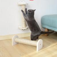40*6 cm Cat Wall Scratching Post Tree Wall Mounted Cat Sisal Shelf Pet Kitten Scratchers Board Toys Cat Climbing Frames CW110