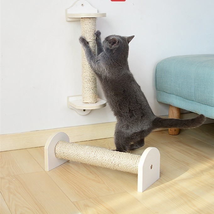 40*6 cm Cat Wall Scratching Post Tree Wall-Mounted Cat Sisal Shelf Pet Kitten Scratchers Board Toys Cat Climbing Frames CW110