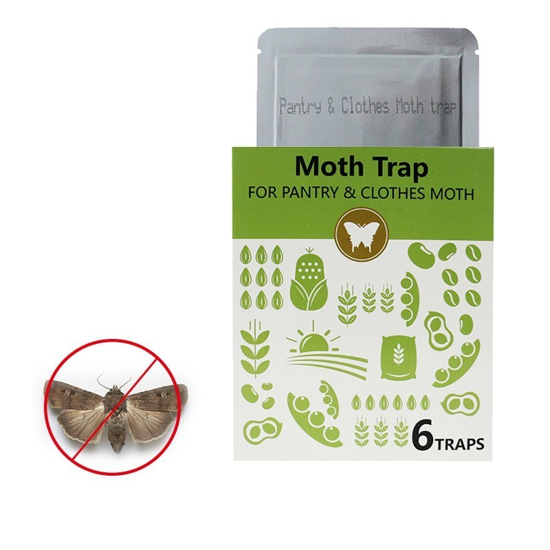 1/3/6/12 Pcs Efficient Pantry&Cloth Moth Adhesive Trap Lndian Meal Moths Strong Gel Plate Female Pheromones Lure Moth Non-toxic
