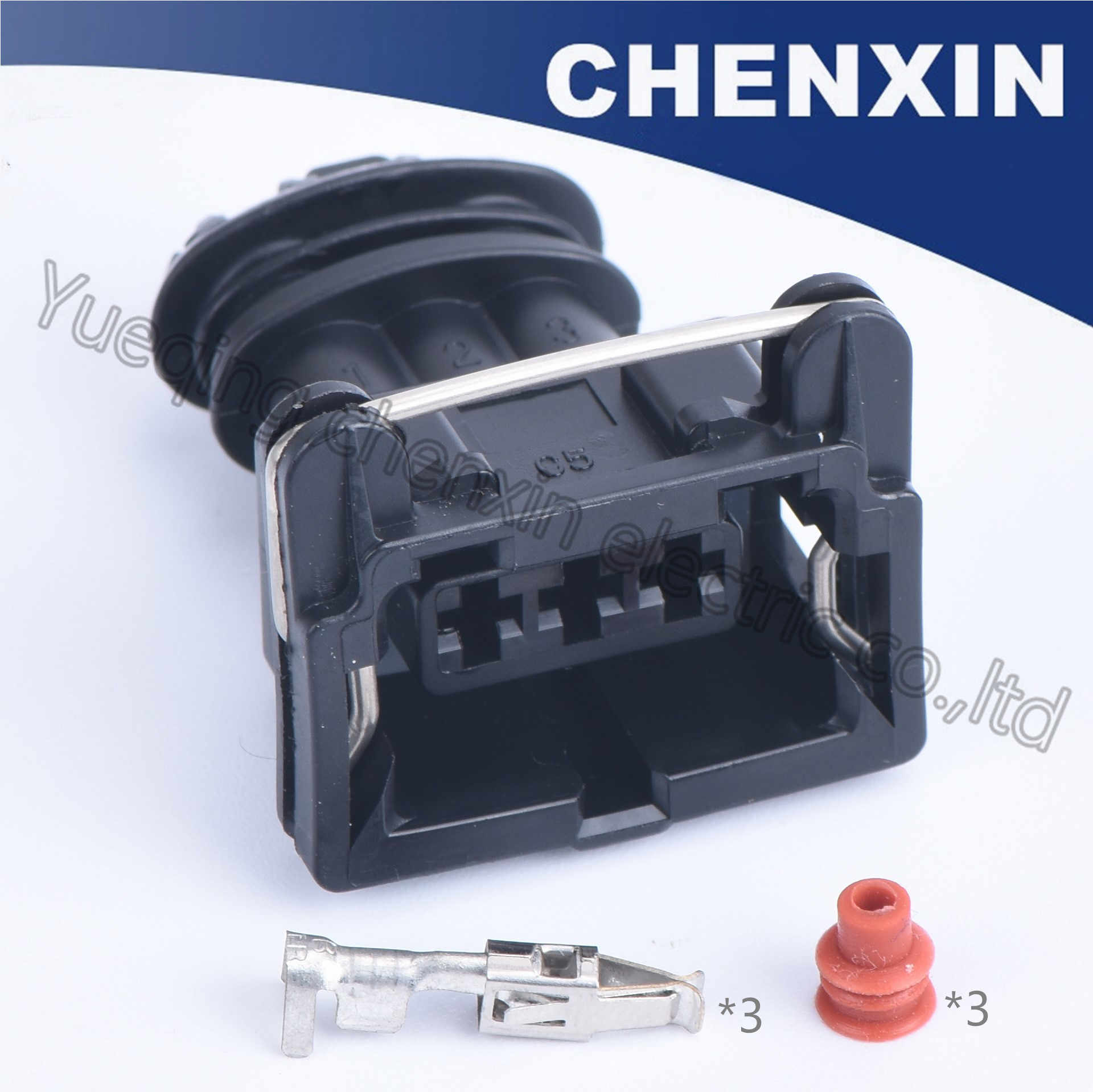 Negro 3pin (3,5) mujer efi serie EV1 combustible del coche de inyector hembra impermeable conector auto