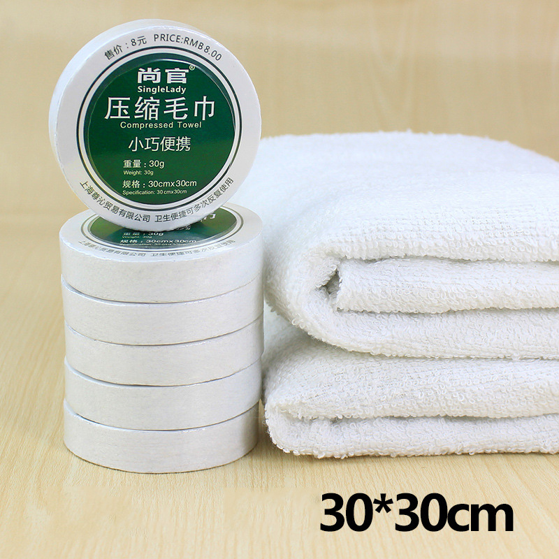100pcs Portable Cotton Compressed Napkin Tissue Towel Tablet Outdoor Travel