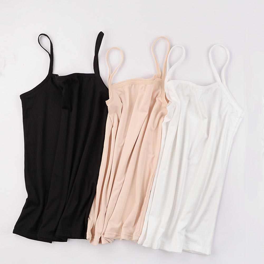 قميص نسائي صيفي بدون أكمام ضيق مثير بحمالات رفيعة وفتحة صدر قطنية تسمح بالتهوية قميص نسائي ملابس داخلية نسائية