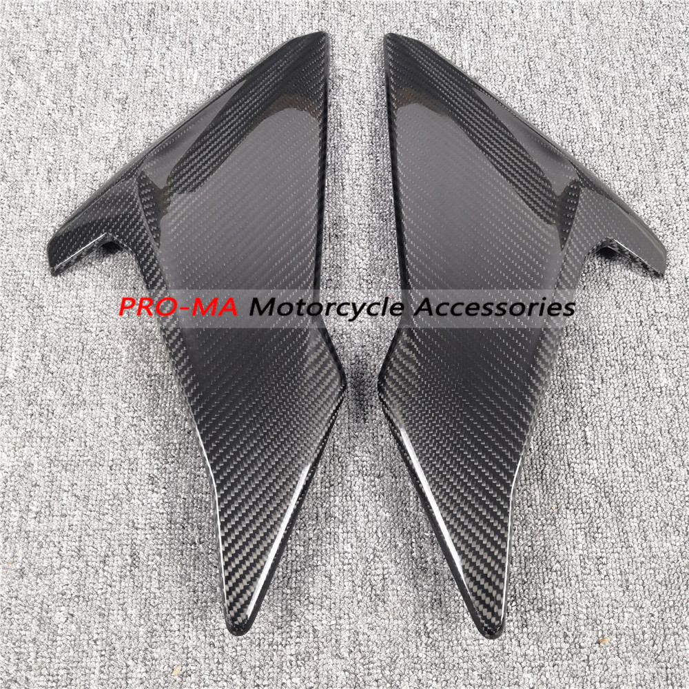 Motorcycle Side Panels Replacement in Carbon Fiber For BMW S1000R 2018 Twill glossy weave