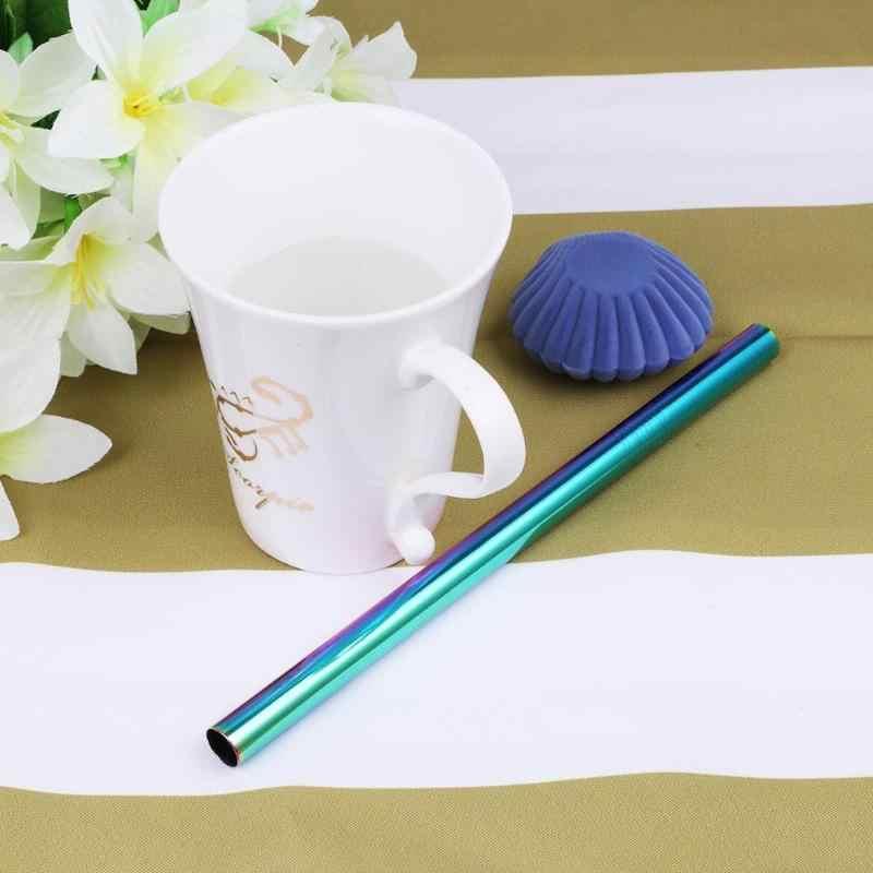 Có thể tái sử dụng Thêm Rộng Dài Ống Hút 304 Thép không gỉ Cốc Uống Nước có Ống Hút Kim Loại Ống Hút Cho Sinh Tố Sắn Dây Ngọc Trai Trà Sữa 1 Cái