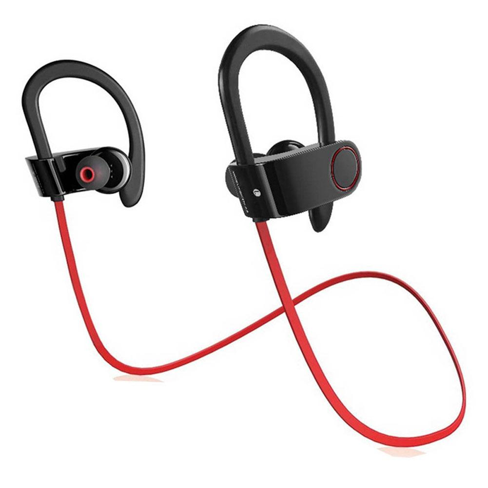 Waterproof Wireless Ear-hook In-ear Stereo Bluetooth Earphone Earbuds with Mic 2018NEW