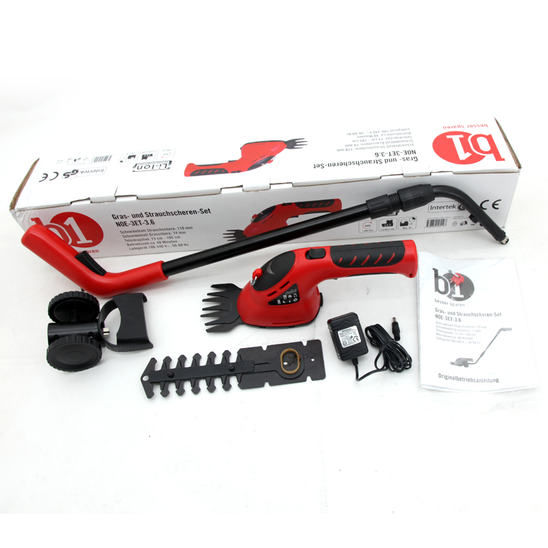 East garden tools 3 6V 3 in 1 Li Ion Cordless Electric Hedge Trimmer Grass Brush