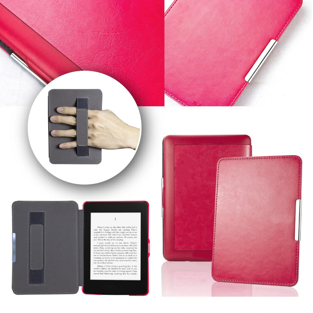 Besegad PU Leather Ebook Reader Protector Case Cover Skin Shell Sleeve for Amazon Kindle Paperwhite Paper White 2015 1 2 3