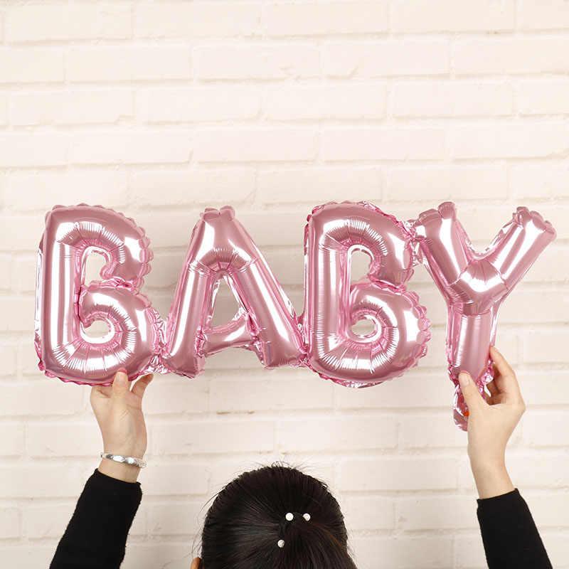 1 pc 70*27 cm Boy Girl Aniversário Cor De Rosa Azul ouro foil Balões do Aniversário Decorações Do Partido Dos Miúdos do partido Babyshower suprimentos brinquedos globos