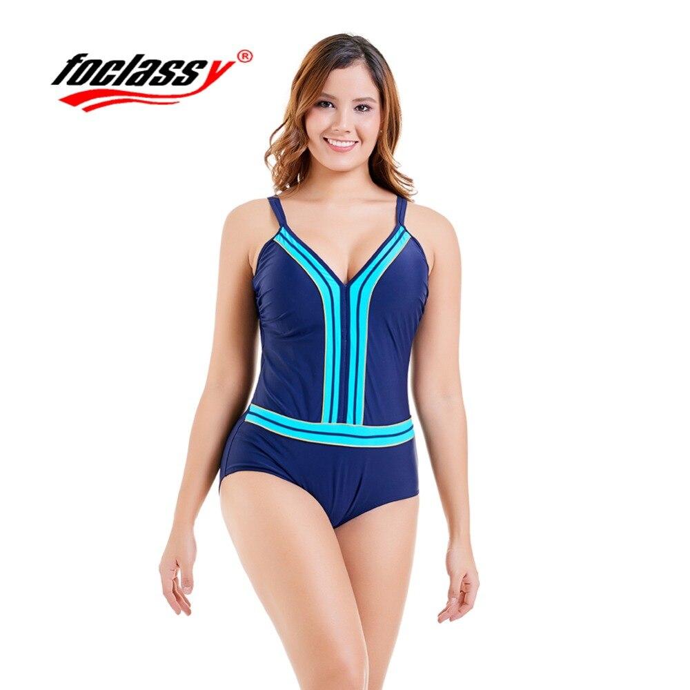 2018 new large size plain color 2 color one piece swimsuit women Europe and America bikini factory direct sales Foclassy biniki
