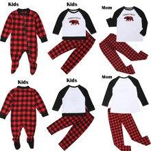 Одежда для рождественских праздников для всей семьи, один стиль для всей семьи, новогодние пижамы для всей семьи Мать и дочка одинаковая clothesoutfits отец, папа ребенка сын