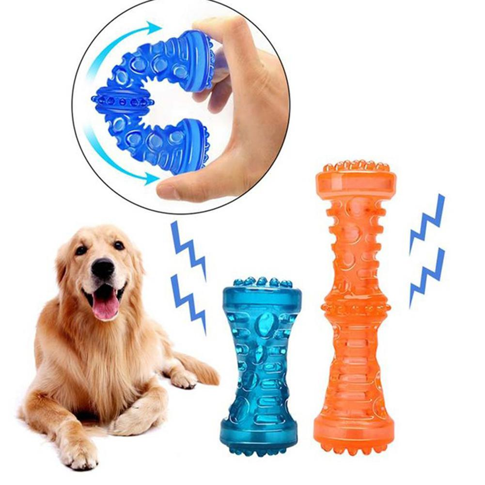 AsyPets Molar Rod with Beads Holes Dogs Pets Training Chew