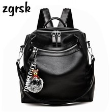Women Backpacks Womens Pu Leather Female School Backpack Single Shoulder Strap Bags For Teenage