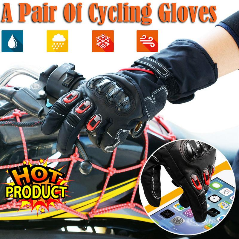 2018 motorrad Winter Fleece-Gefüttert Reiten Full Finger Handschuhe Touch Screen Anti-Skid <font><b>Kawasaki</b></font> Off-Road Racing handschuhe 11,11 image
