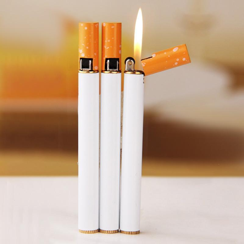 Torch Jet Flame Lighter Refillable Butane Gas Cigarette Cigar Lighters For Smoking Creative Slim Cigaret Design Gas Lighter A20
