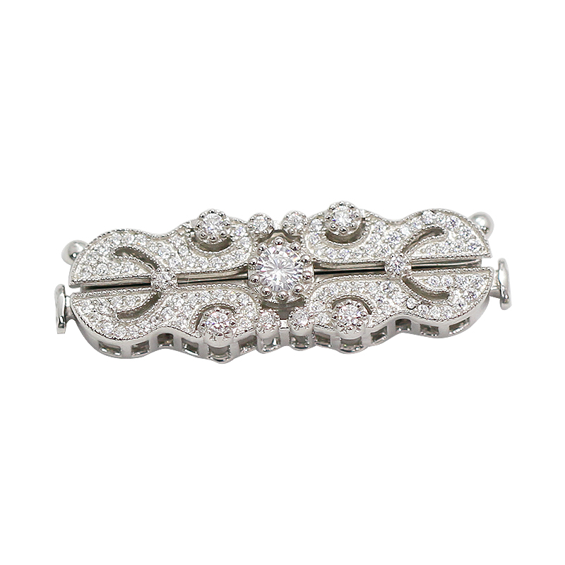 Beadsnice 925 collier en argent Sterling fermoir faisant CZ pavé bijoux Multi brin collier fermoir - 3