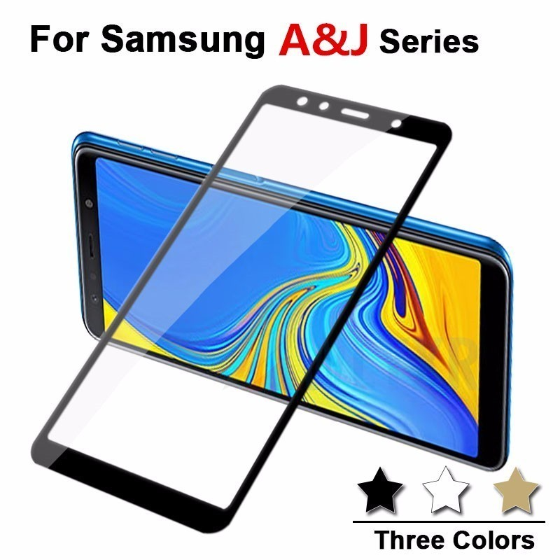 Protective Tempered Glass For Samsung Galaxy J8 J7 J6 J4 J3 J2 Pro A8 A6 Plus 2018 A3 A5 A7 J3 J5 2016 2017 Glas Film Case Cover image