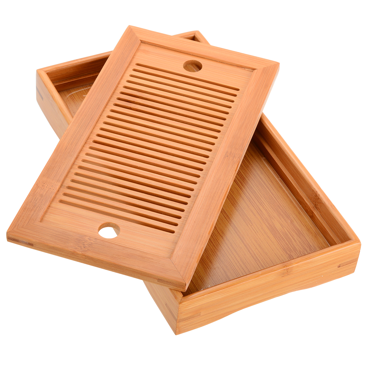 25 14 3 5cm Rectangle Chinese Gongfu Tea High Quality Bamboo Tea Tray Serving Food Coffee Tea Cutlery Tray in Tea Trays from Home Garden