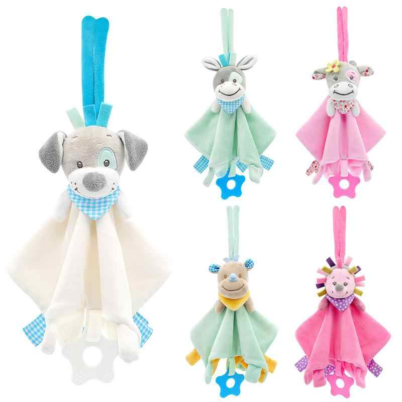 Baby Comforting Security Blanket Toys Animal Stuffed Soft Baby Plush Toy Bed Hanging