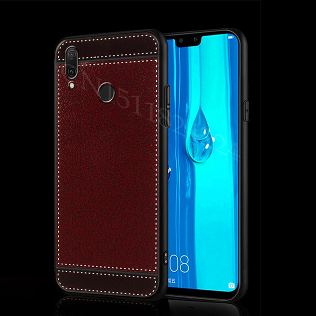 outlet store cbce3 94821 US $2.79 30% OFF|For Huawei Y9 2019 Case Silicone TPU Back Cover Leather  grain Phone Case For Huawei Y9 2019 Y 9 Y92019 JKM LX1 JKM LX1 Soft Case-in  ...