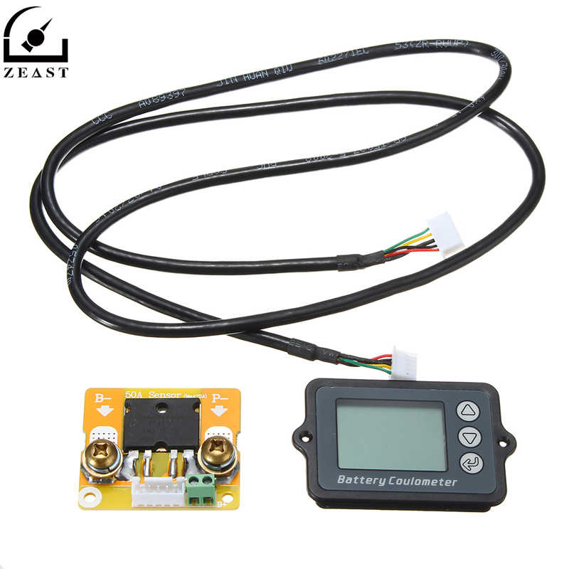 ZEAST Durable Battery Tester TK15 High Precisions LiFePO/Lithium/Lead Acid Battery Testers Coulomb Counter 50A
