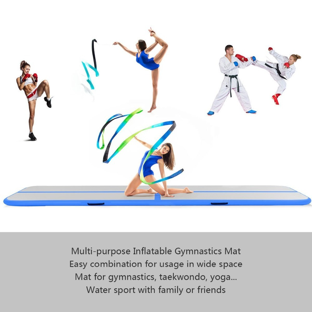 Inflatable Trampoline Mat Gymnastics Airtrack Juegos Inflablestumbling 5m Air Track Floor Yoga cushion Electric Air Pump