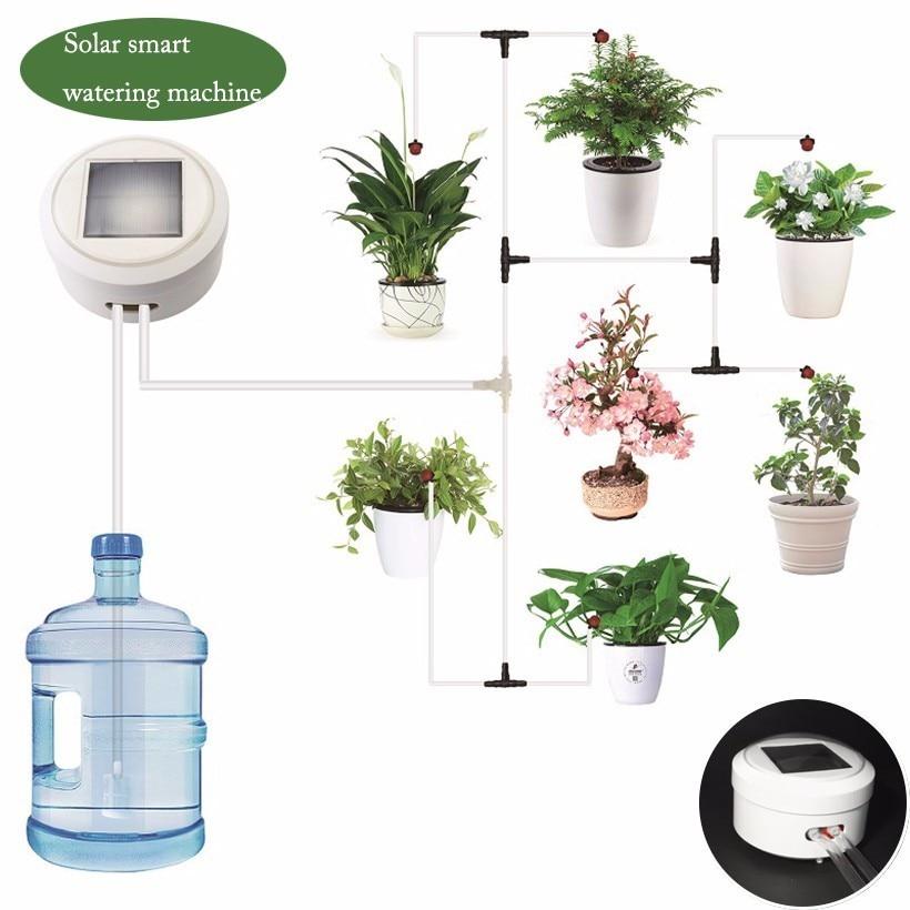 Solar Energie Intelligente Timing Garten Automatische Bewässerung Gerät Anlage Tropf Wasser Pumpe Sprinkler Micro System Bewässerung Werkzeug-in Blumentöpfe & Pflanzkübel aus Heim und Garten bei  Gruppe 1