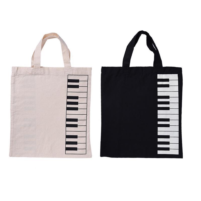 Portable Keyboard Pattern Music Score Bag Cotton And Linen Musical Bags Music Sheet Guidebook Notebook Handbag