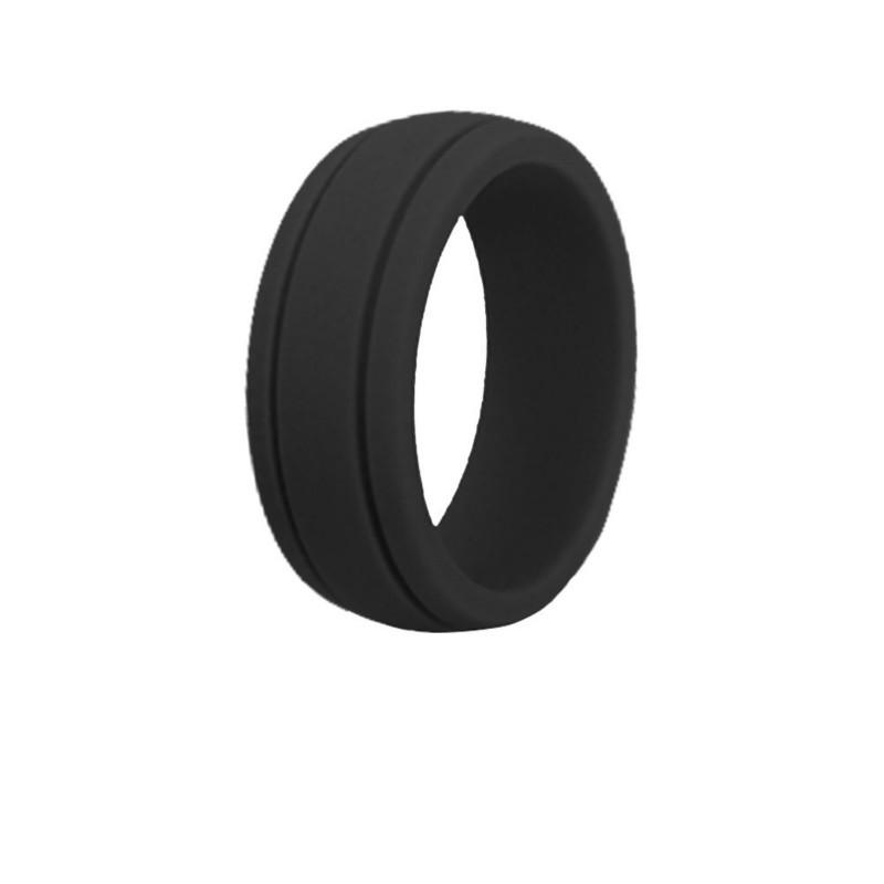 2019 New Silicone Wedding Engagement Ring Men Women Rubber Flexible Hypoallergenic Environmental Punk man Rings 8mm