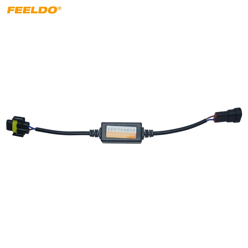 Capable Feeldo Car Led Headlamp Error Free Load Resistor Warning Canceller For H8/h9/h11 Led Head Light Canbus Error Free Wiring Car Lights
