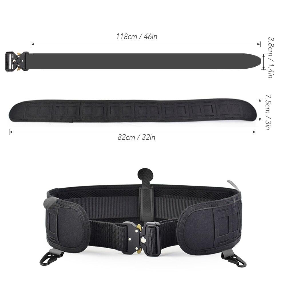 Image 5 - Military Airsoft Adjustable Tactical Belt Men Padded Molle Waist Belt Quick Release Combat Army Battle Hunting Belt CummerbundsWaist Support   -