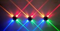 4W CREE luz das estrelas Cruz LEVOU moderna interior decoração do hotel quarto luz sala de estar lâmpadas do corredor de cabeceira TV fundo da imagem|Luminárias de parede| |  -