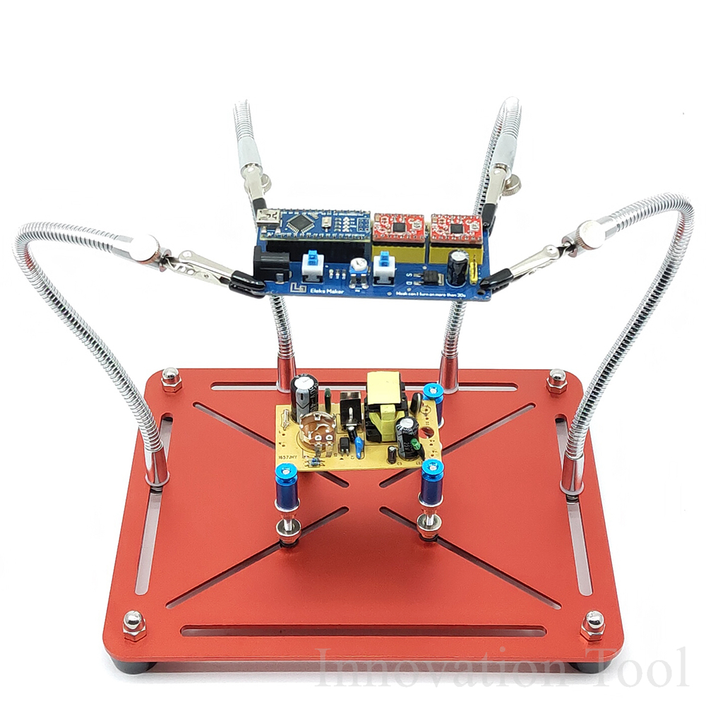 2 in 1 Helping Hands Soldering Aid Tool Third Pana Hand Movable PCB Circuit Board Holder