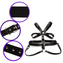 Faux Leather Bondage Slave Restraint Straps Men Chest Harness Adult SM Sex Toy