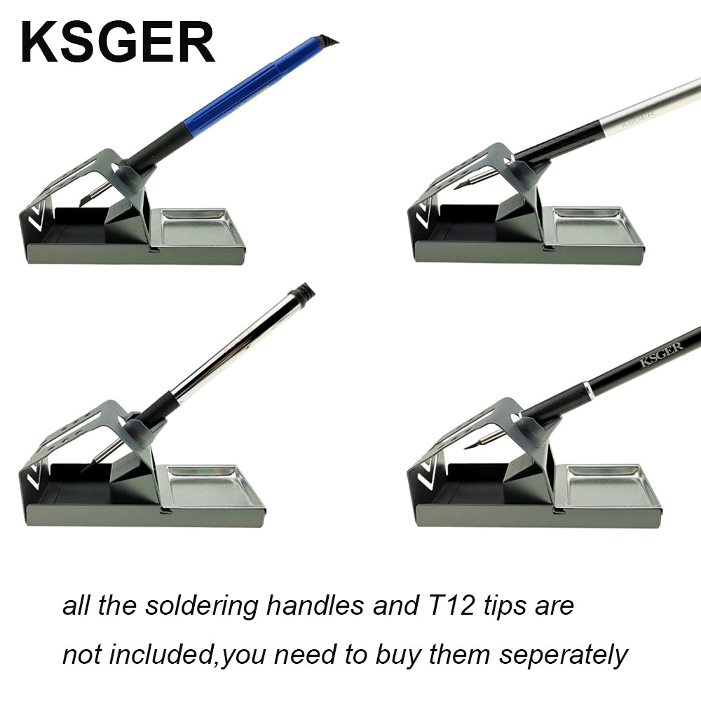 Image 4 - KSGER  DIY T12 Zinc alloy Holder Soldering Iron FX9501 Handle Frame OLED Station Stand For Stainless Steel Handle Silicone PadElectric Soldering Irons   - AliExpress