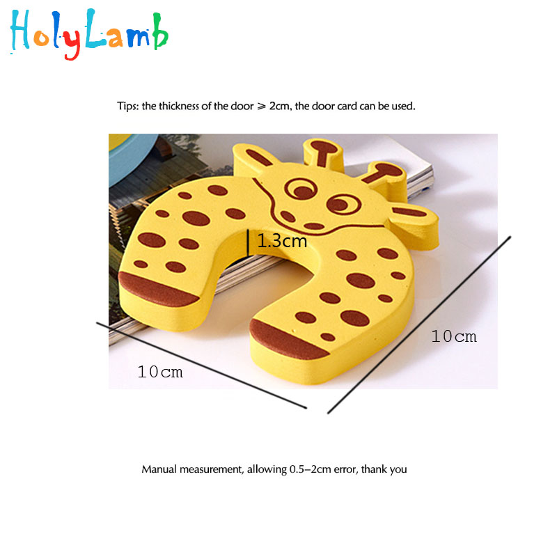 Купить с кэшбэком 7Pcs/Lot  Cute Animal Security Card Door Stopper Child Safety Protection Baby Newborn Care Child Lock Protection From Children
