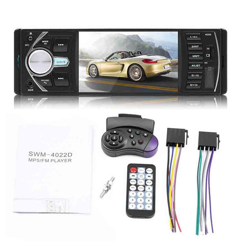 4.1 Double 1 DIN Car MP5 MP3 Player Bluetooth Touch Screen Stereo Radio Camera image