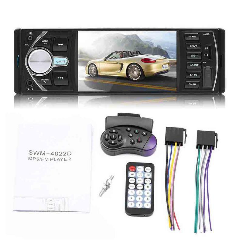 4.1 Double 1 DIN voiture MP5 lecteur MP3 Bluetooth écran tactile stéréo Radio caméra