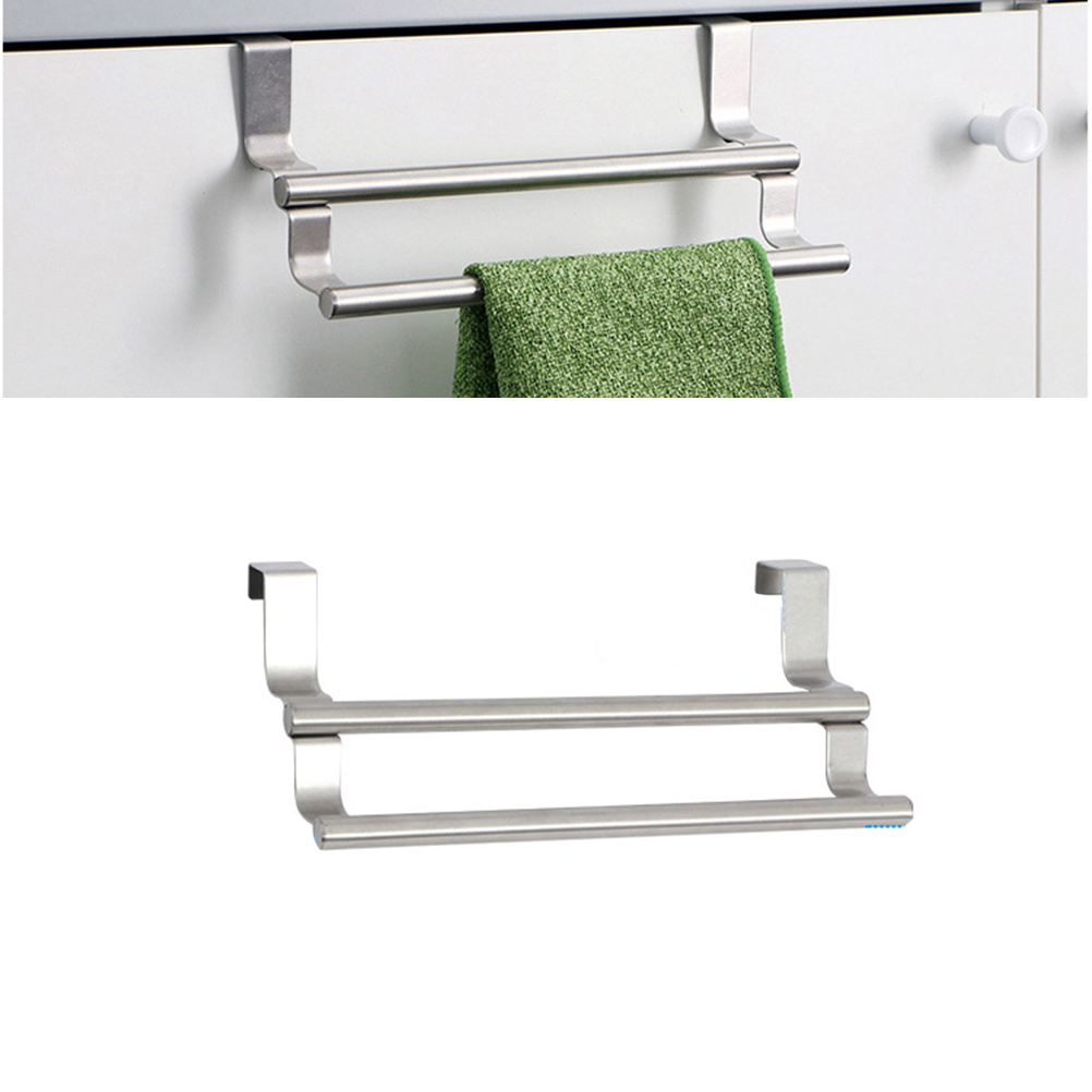 Double Towel Bar Over Cabinet Stainless