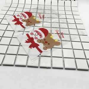 Image 2 - Best 100 Pcs Candy Bags Cute Sachet Bag Pattern of Santa Claus Bag Pouch for Candy Biscuit Chocolate Candy Sweets Candy Gift B