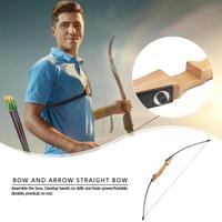 Outdoor Sports 40 Pounds Recurve Bow Set Straight Split Archery Wooden Bow for Hunting Game high strength fiber bow