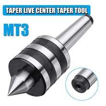 MT3 Taper Live Center Triple Bearing Lathe Live Center Taper Tool 0.001mm For CNC Cutter Lathe Tool For Metal Wood Lathe Turning