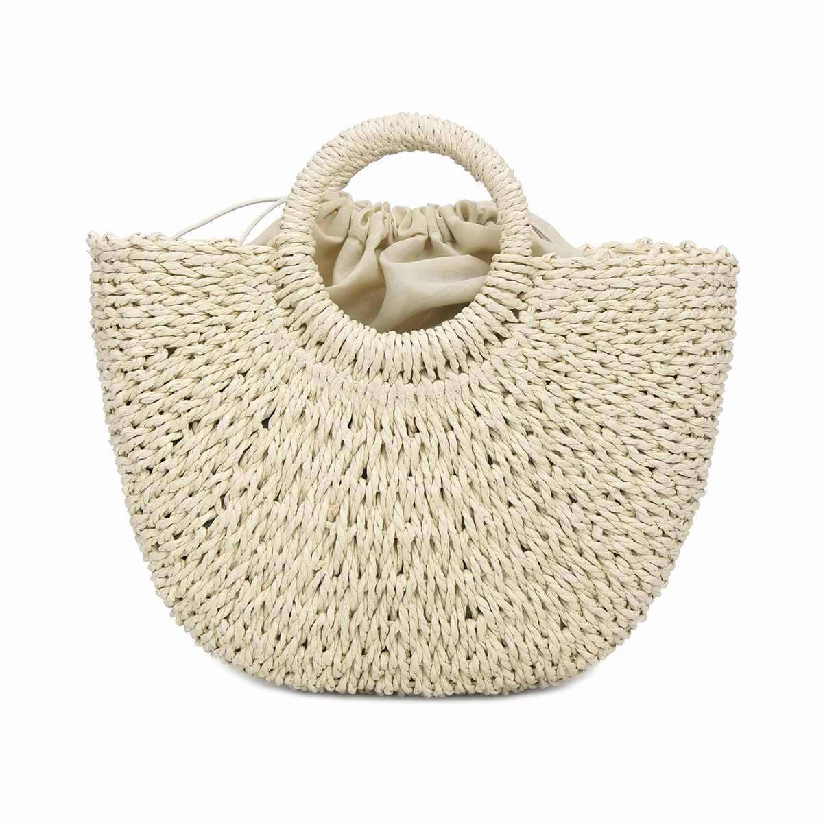 Для женщин корзина из натуральных материалов сумки женские круглый соломенные сумки сумка ручной работы пляжные плетеная Сумка из ротанга большое ведро летние плетеные сумки Begie хаки