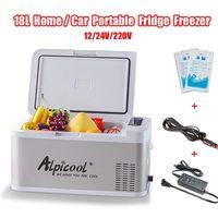 18L 12 В/24 В переносной мини холодильник дома и автомобиля холодильник морозильник 58x33x29 см мини ремень привода вентилятора холодильники для ф