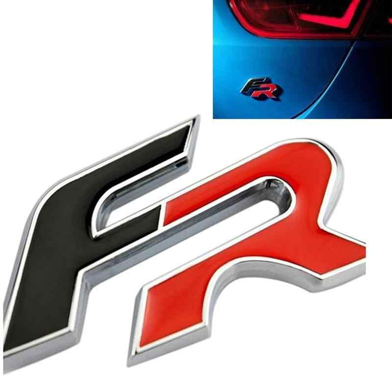 3D Metal FR samochód tylny bagażnik ciała naklejka z logo wykończenia dla seat ibiza Altea Leon samochodów naklejki i kalkomanie Auto stylizacji dostaw