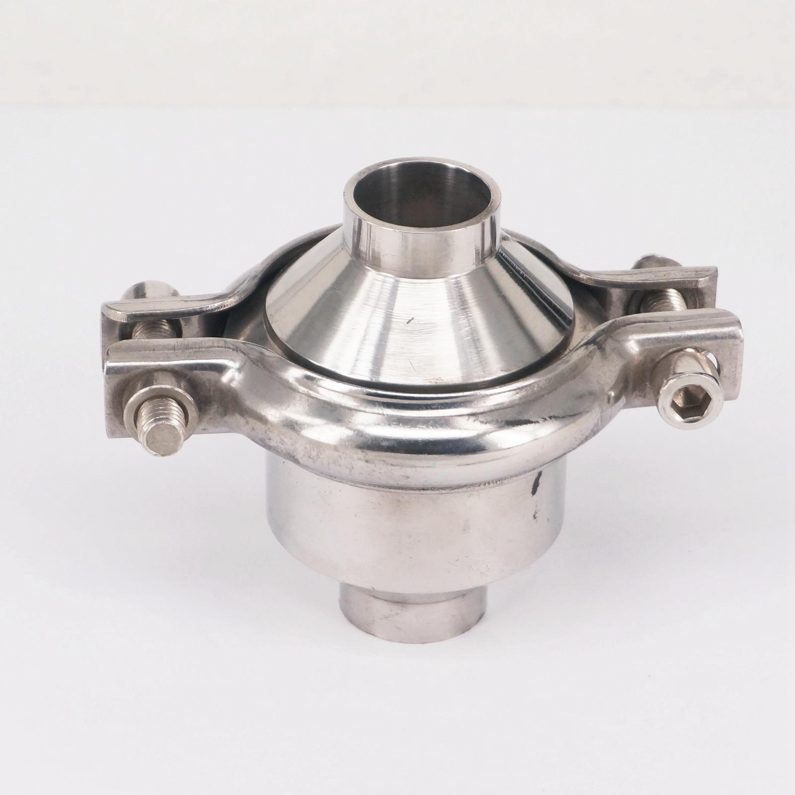 Fit 38mm 1-1/2 Pipe OD Butt Welding SUS 304 Stainless Sanitary Check Valve Non-Return For Home Brew Beer 229 PSIFit 38mm 1-1/2 Pipe OD Butt Welding SUS 304 Stainless Sanitary Check Valve Non-Return For Home Brew Beer 229 PSI