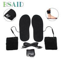 BSAID Washable Electric Heated Shoe Insole Foot Warmer Heater For Warm Feet Socks Boots Insoles For Shoes Woman Men Shoe Pads
