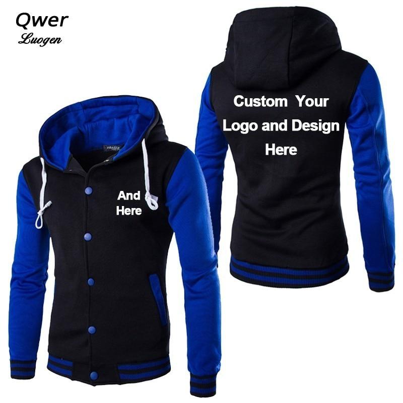 Custom Logo And Design Stylish Hoodie Mens Cosplay Hoodies Cool Slim Baseball Jacket Costume Coat