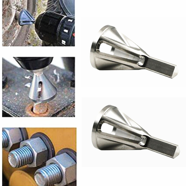 CHR12 MOV Stainless Steel Deburring External Chamfer Tool Drill Bit Remove Burr Silver Tire Repair Tools