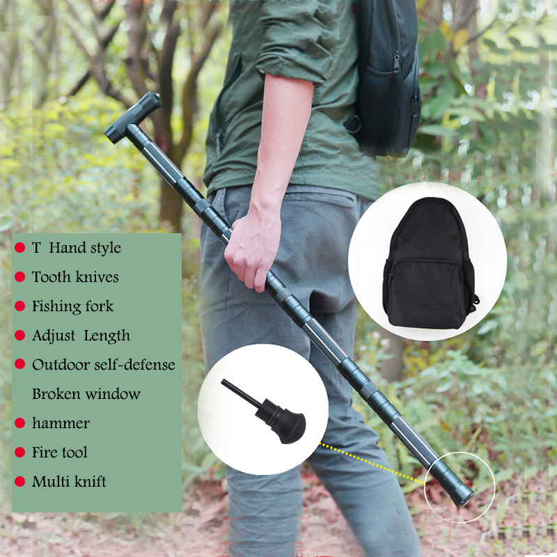 Outdoor defense Alpenstock Hiking Camping equipment Tactical stick Multifunctional tools Tactical stick Walking SticksOutdoor defense Alpenstock Hiking Camping equipment Tactical stick Multifunctional tools Tactical stick Walking Sticks